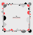 abstract modern living coral and black geometric vector image