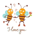 Bees couple vector image vector image