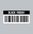 black friday price tag flat style vector image