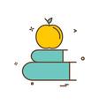 books apple icon design vector image