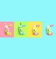 bright summer detox set vector image vector image