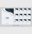calendar 2020 trendy gradients origami style set vector image