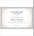 certificate or diploma retro vintage template 02 vector image vector image