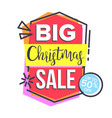 christmas sale sticker shopping concept vector image vector image