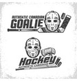 classic vintage emblems canadian hockey with vector image