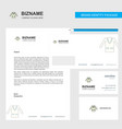 coat business letterhead envelope and visiting vector image vector image