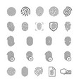 concept of fingerprint logo vector image