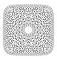 convex op art pattern vector image vector image