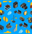cryptocurrency mining blockchain seamless pattern vector image