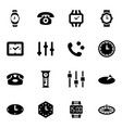 dial icons vector image vector image