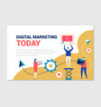 digital marketing - flat design style colorful web vector image vector image