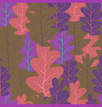 fall leaves pattern vector image