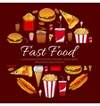 Fast food menu card design element vector image vector image
