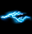 flashes lightning isolated on transparent vector image vector image