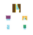 flat icon glass set of glass frame glazing clean vector image vector image
