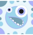 Fun scared cartoon monster vector image vector image