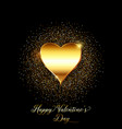 gold glitter valentines day background vector image vector image