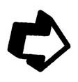 graffiti arrow 3d icon sprayed in black on white vector image vector image