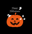 halloween pumpkin poster on black background vector image