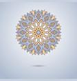 hand drawn colorful floral mandala vector image vector image