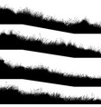 horizontal banners silhouettes wavy meadow on vector image vector image
