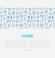 hygiene concept with thin line icons vector image
