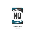 initial letter nq creative abstract logo template vector image vector image