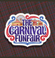 logo for carnival funfair vector image