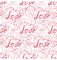 love seamless pattern doodle ornamental vector image vector image