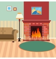 Luxury Living Room Interior with Fireplace vector image vector image