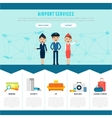 Main Airport Page Template vector image