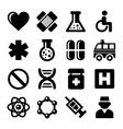 Medic Icons Set on White Background vector image vector image