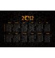 new years calendar 2012 vector image vector image