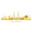 nouakchott mauritania skyline golden silhouette vector image vector image