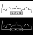 oxford mississippi skyline linear style vector image vector image