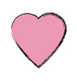 pink heart love health romantic symbol vector image vector image