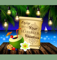 pirate treasure map on tropical background vector image vector image