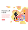 professional growth online page business training vector image