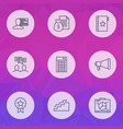 project icons set with graph and presentation vector image