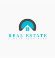 real estate initial letter d or letter o logo vector image vector image