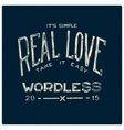 Real love wordless vector image vector image