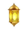 Realistic Ramadan Lamp Icon vector image
