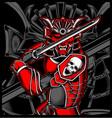 samurai skull japanese vector image vector image