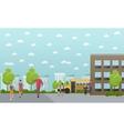 School concept banner College yard vector image