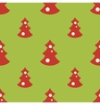 Seamless pattern with christmas trees green vector image vector image