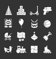 Set icons of toys vector image vector image