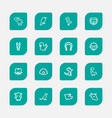 set of 16 editable zoology outline icons includes vector image vector image