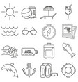 set of icons in line style sea vector image vector image
