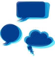 Set of trasnparent patterned speech bubbles vector image vector image