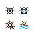 ship wheel logo design template vector image